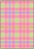 Backing Papers Single - Pink Gingham - REF_BP_42