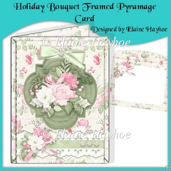 Holiday Bouquet Framed Pyramage Card