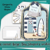 Coastal Large Tag Shaped Card Kit