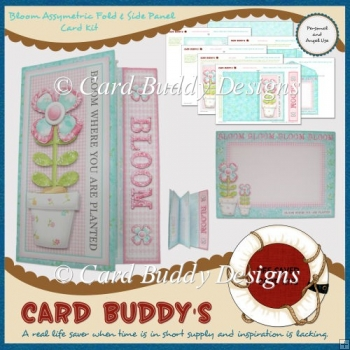 Bloom Assymetric Fold & Side Panel Card Kit