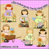 Little Punkins Garden Time ClipArt Graphic Collection
