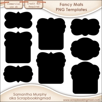8 PNG Fancy Mat Templates - CU OK