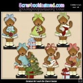 Mama Bear Christmas Wishes ClipArt Collection