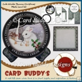Cute Winter Bunny Christmas Plate Card Kit