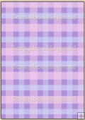 Backing Papers Single - Lilac Gingham - REF_BP_66