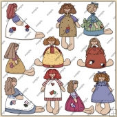 Rag Dolls ClipArt Graphic Collection