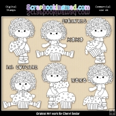 Charlottes Cup Cakes Digital Stamp Graphic Collection