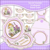 Secret Garden Scalloped Easel Card Download