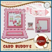 Ho Ho Ho Santa Stamp Edged Easel Card Kit