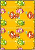A4 Backing Papers Single - Orange Fish - REF_BP_180