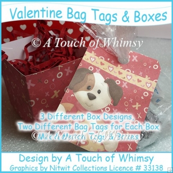 Valentine Bag Tags & Boxes