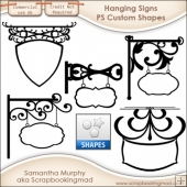 Hanging Signs Photoshop Custom Shapes .CSH - CU OK