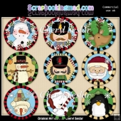 Winter Wonderland Round Templates ClipArt Collection