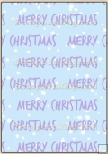 Backing Papers Single - Blue/Lilac Merry Christmas - REF_BP_7