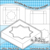 Window Box Card Star Window Template Commercial Use OK