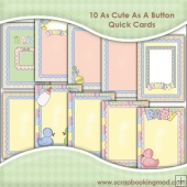 10 Cute As A Button Quick Card Downloads