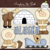 North Alaska ClipArt Graphic Collection