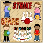 Bowling ClipArt Graphic Collection