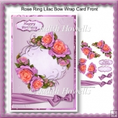 Rose Ring Lilac Bow Wrap Card Front