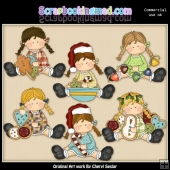 Bridgets Merry Little Christmas ClipArt Collection