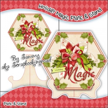 Holiday Magic Hexagon Plate & Stand