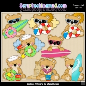 Sweet Stuffins At The Beach ClipArt Collection