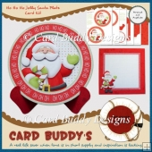 Ho Ho Ho Jolly Santa Plate Card Kit