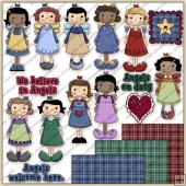 Sweet Angels 1 ClipArt Graphic Collection