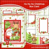 Ho Ho Ho Christmas Box Card