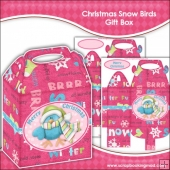 Christmas Snow Birds Gift Box