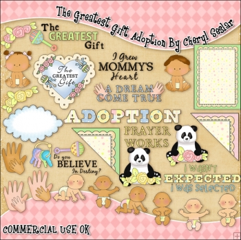The Greatest Gift Adoption ClipArt Graphic Collection