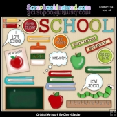 School Rules ClipArt Collection