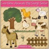 Cute Farm Animals Graphic Collection - REF - CS