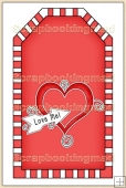 Red Valentine Tag - REF_T323