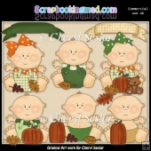 Fall Babies ClipArt Collection
