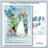 Princess In The Garden A5 Card Front