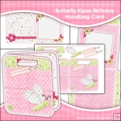 Butterfly Kisses Trendy Handbag Card, Insert & Envelope