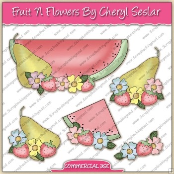 Fruit N Flowers ClipArt Graphic Collection - REF - CS