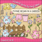Whimsical Garden ClipArt Graphic Collection