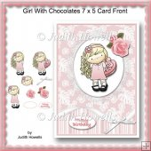 Girl With Chocolates 7 x 5 Card Front