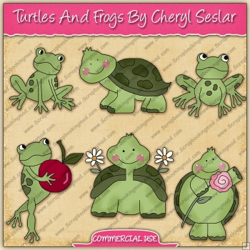 Turtles & Frogs Graphic Collection - REF - CS