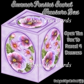 Summer Pansies Secret Treasure Box
