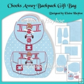 Chocks Away Backpack Style Gift Bag