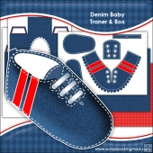 Denim Baby Trainer & Gift Box Keepsake