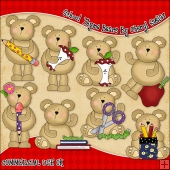School Thyme Bears ClipArt Graphic Collection