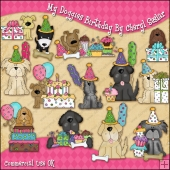 My Doggie Birthday ClipArt Graphic Collection