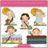 Fun In The Sun ClipArt Graphic Collection - REF - CS