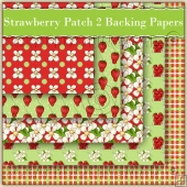 Strawberry Patch Backing Papers Download (C121)