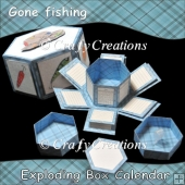 Gone Fishing Exploding Box 2013 Calendar