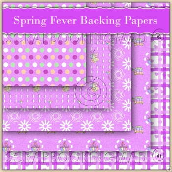 5 Spring Fever Backing Papers Download (C103)